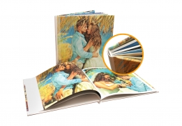 Knyga kietu viršeliu plonais lapais (DIZAINERIO MAKETAS)