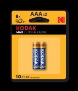Kodak MAX AAA baterijos 2 vnt